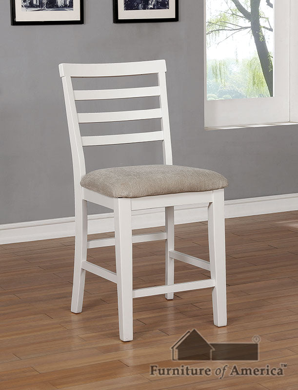 Kiana White Counter Ht. Side Chair (2/CTN) image