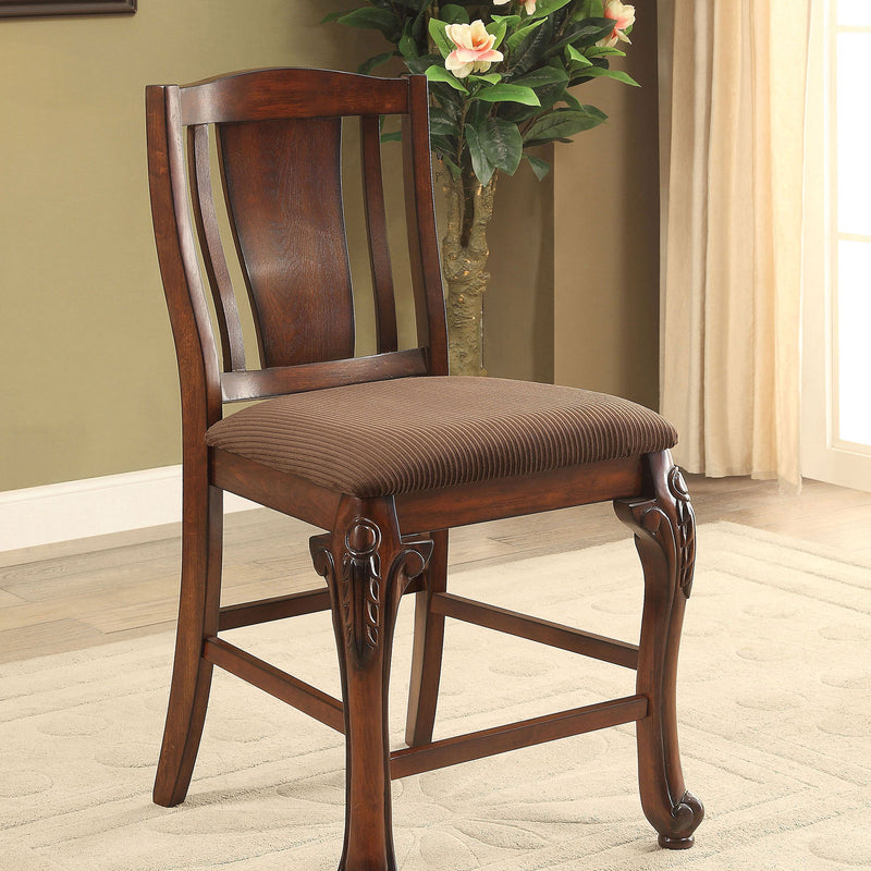 JOHANNESBURG Brown Cherry/Brown Counter Ht. Chair (2/CTN) image