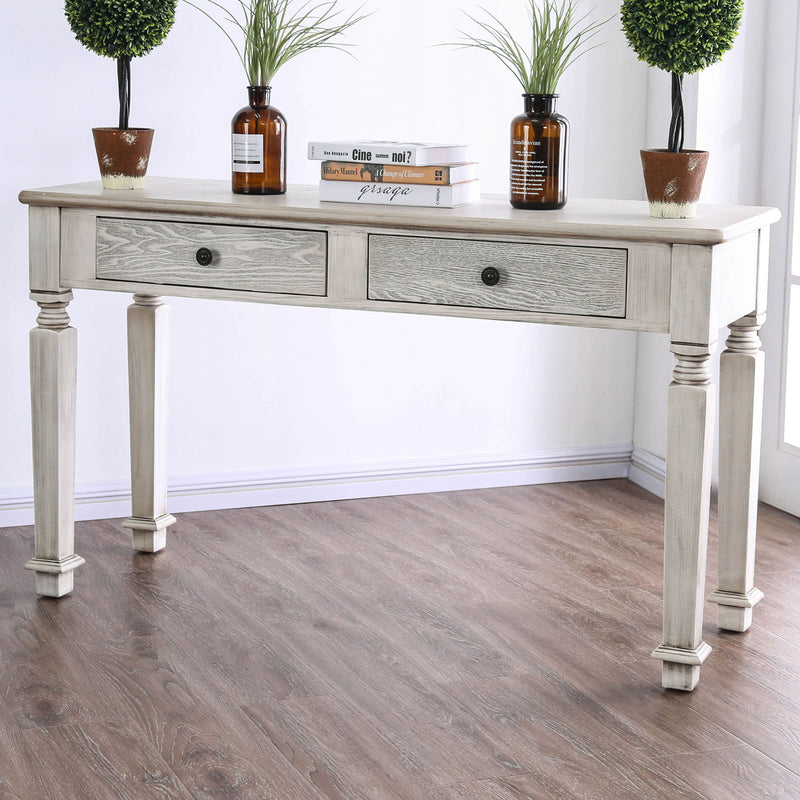 Joliet Antique White Sofa Table image
