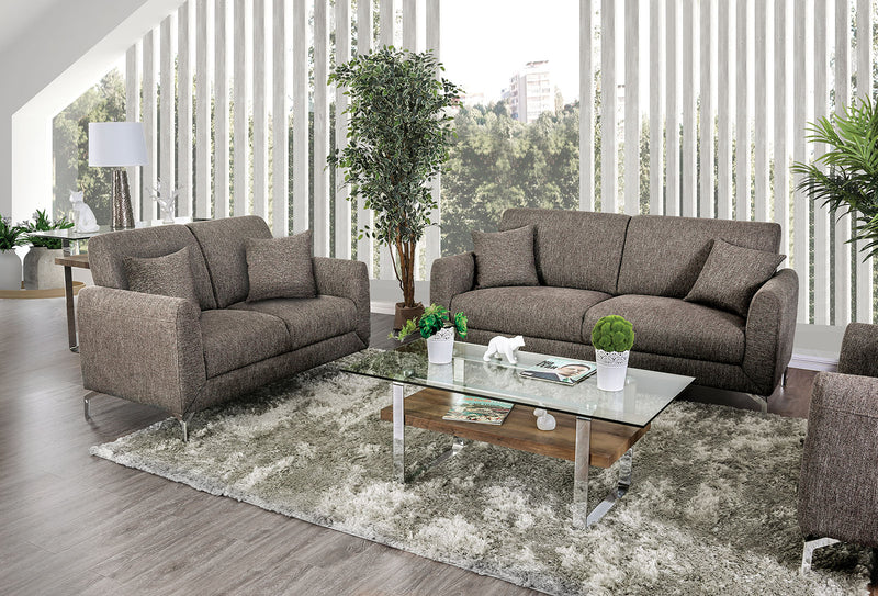 Lauritz Brown Sofa + Love Seat image