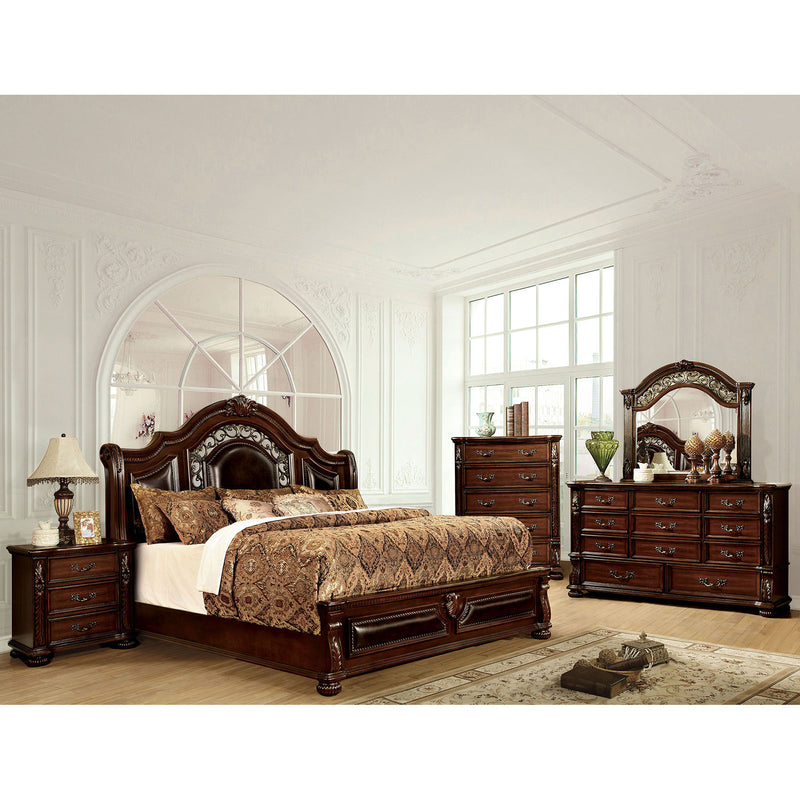 Flandreau Brown Cherry/Espresso 5 Pc. Queen Bedroom Set w/ 2NS image