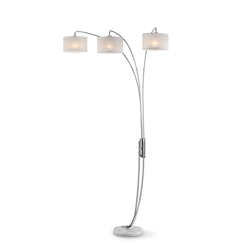 Leanne Off-White/Chrome Arch Lamp image