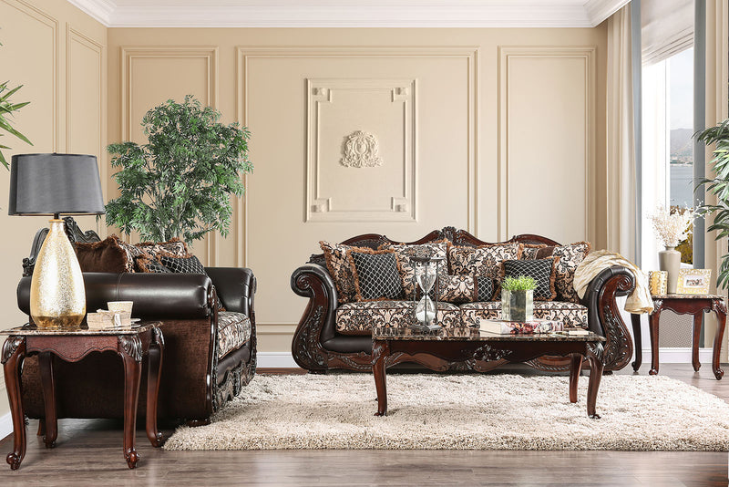JAMAEL Brown Sofa + Love Seat image
