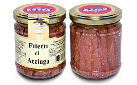 FILETTI DI ACCIUGHE DISTESE PESCA SICILIANA