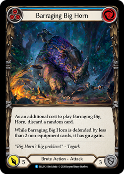 Barraging Big Horn (Blue)