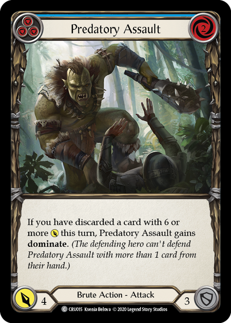 Predatory Assault (Blue) - Foil
