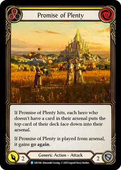 Promise of Plenty (Yellow) - Foil