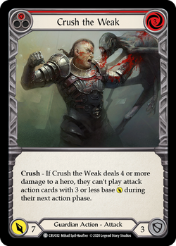 Crush the Weak (Red) - Foil