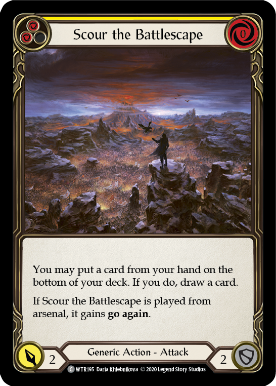 Scour the Battlescape (Yellow) (Unlimited)