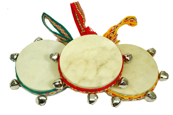Damasas Drum w/ Bells & Fabric Loop - J020B