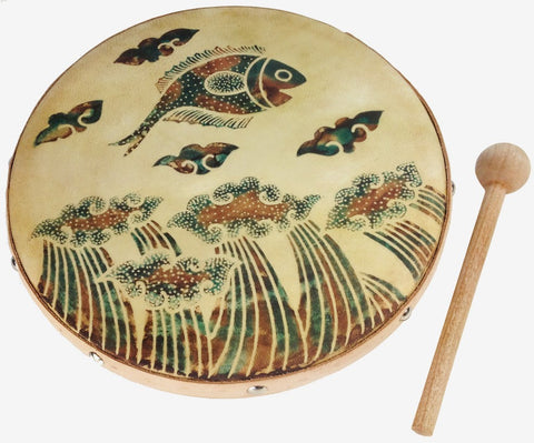 Frame Drum Jumping Fish - J0522