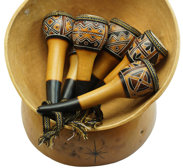 Leather Top Gourd Shaker - R0207 NEW!