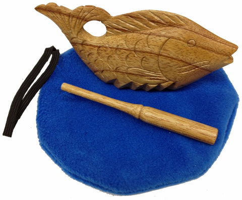 Fish Scraper/Wood Block with Pond Pouch - R008