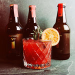 Curious Elixir No. 1 non-alcoholic drink orange juice pomegranate spices mocktail