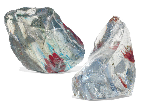 Slag glass is a byproduct of industrial glass production.