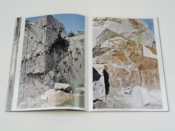 In this artist book she presents photographs taken in the Carrara region of Italy between 2008 and 2010 along with the 16mm film Concrete Samples III Carrara.