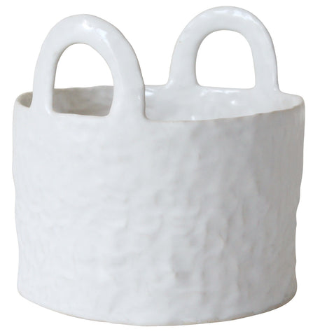 medium white basket