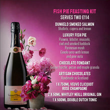 Load image into Gallery viewer, Valentine's Luxury Fish Pie Dinner Kit & Veuve Clicquot Rose Champagne (Serves 2)