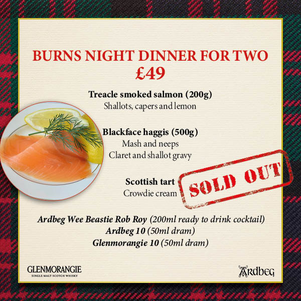 Burns Night Dinner (Serves Two)