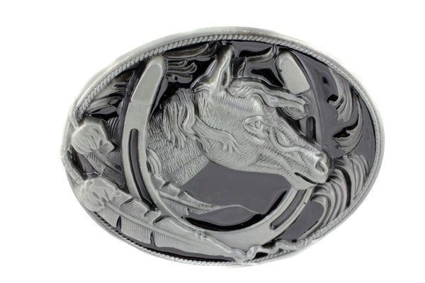 Western Horse Head Buckle Multiple Colors-647