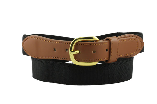 "Deal Fashionista Men's Nylon Elastic Stretch Belt 1.25"" Wide"