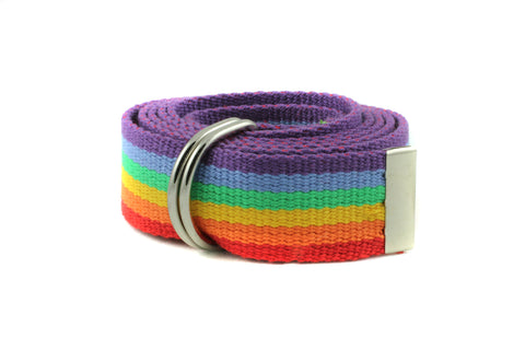 D Ring Canvas Webbed Cotton Belt for Adult and Kids 1.25""