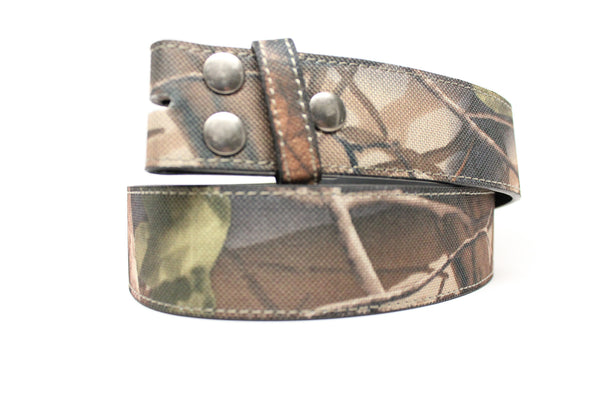 DF Camo Leather Strap Snap On Belt 1.5""