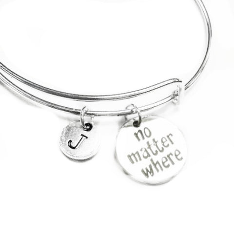 Deal Fashionista RX Pharmacist Expandable Bangle Personalized Initial Bracelet