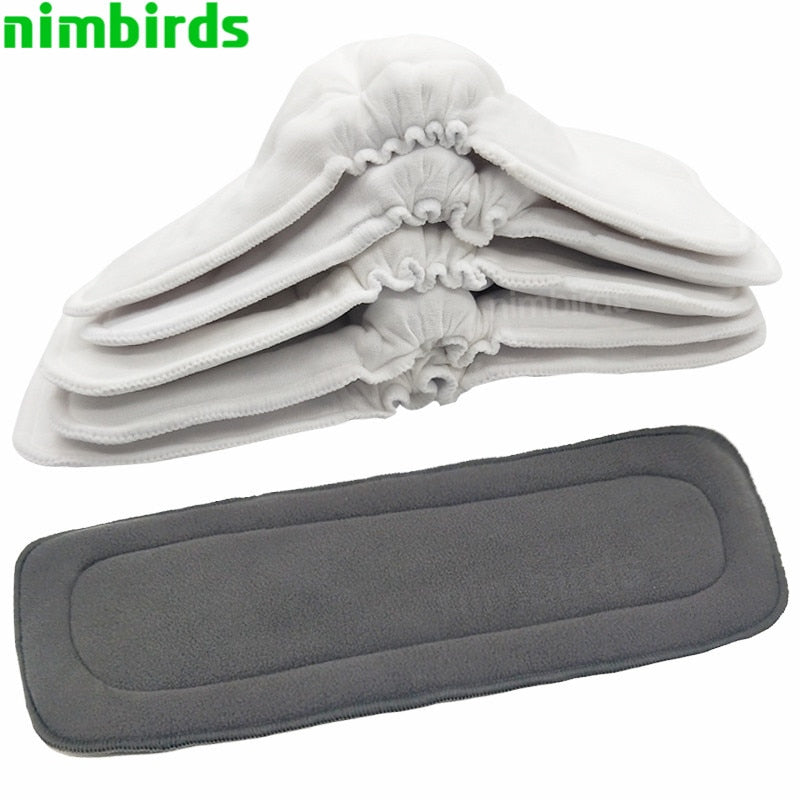 Reusable Washable Diaper Inserts  Liners For Baby Diaper Cover Nappies Charcoal Insert