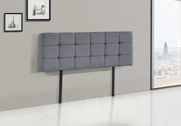 Linen Fabric Double Bed Deluxe Headboard Bedhead - Grey