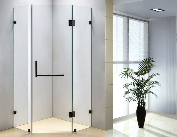900 x 900mm Frameless 10mm Glass Shower Screen By Della Francesca