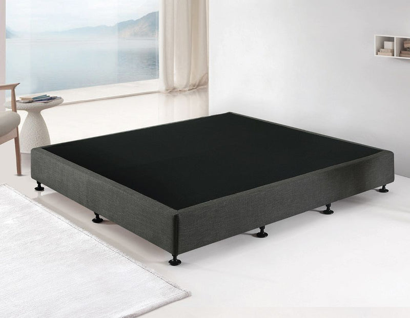 Palermo King Ensemble Bed Base Platinum Graphite Linen Fabric