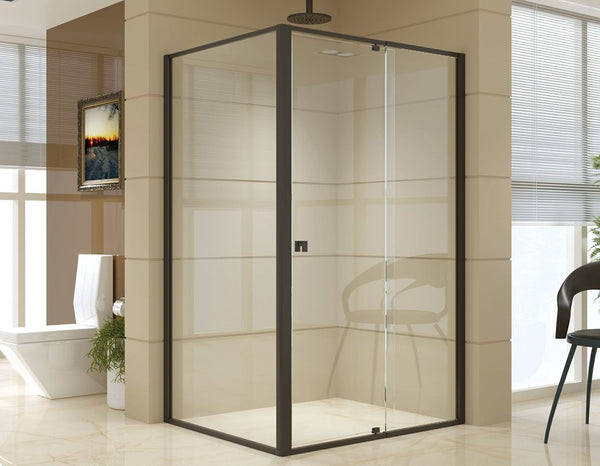Semi Frameless Shower Screen (114~122)x 195cm & (98~101)x195cm Side AS/NZS Glass
