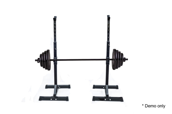 Pair of Adjustable Rack Sturdy Steel Squat Barbell Bench Press Stands GYM/HOME