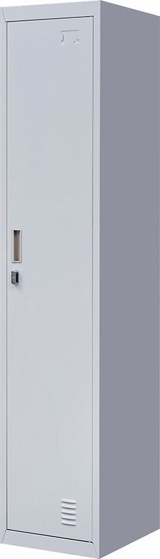Padlock-operated lock One-Door Office Gym Shed Clothing Locker Cabinet Grey