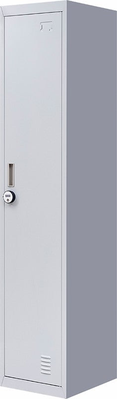 4-Digit Combination Lock One-Door Office Gym Shed Clothing Locker Cabinet Grey