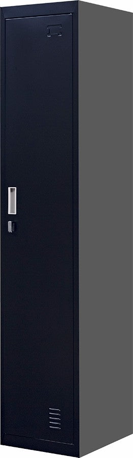 Padlock-operated lock One-Door Office Gym Shed Clothing Locker Cabinet Black