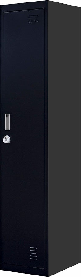 3-Digit Combination Lock One-Door Office Gym Shed Clothing Locker Cabinet Black