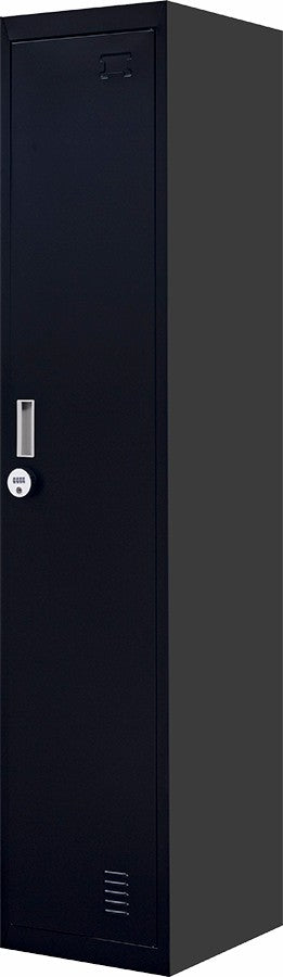4-Digit Combination Lock One-Door Office Gym Shed Clothing Locker Cabinet Black