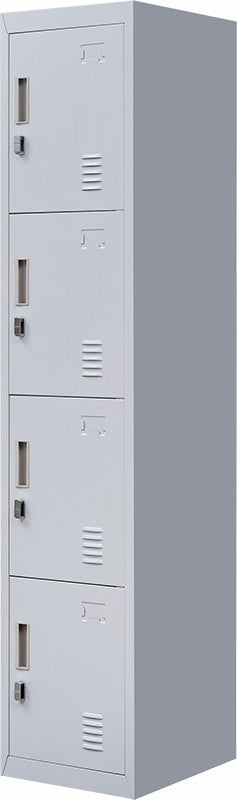 Padlock-operated lock 4 Door Locker for Office Gym Grey
