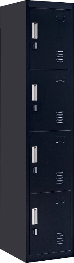 Padlock-operated lock 4 Door Locker for Office Gym Black