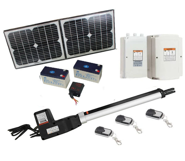 500KG 20W Solar Single Swing Auto Motor Remote Gate Opener