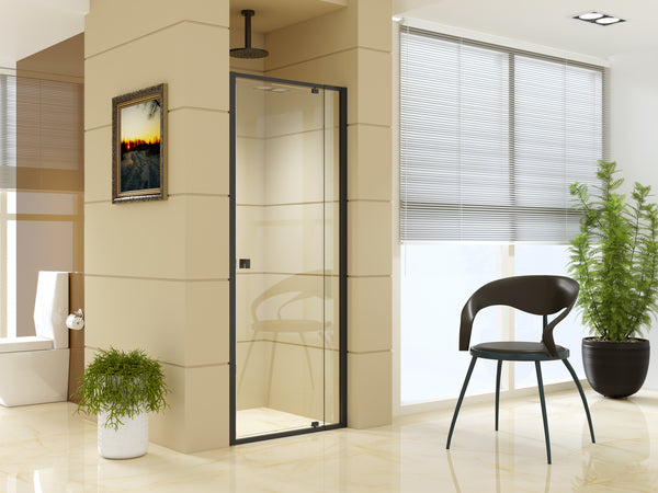 Adjustable Semi Frameless Shower Screen (74~82) x 195cm Australian Safety Glass