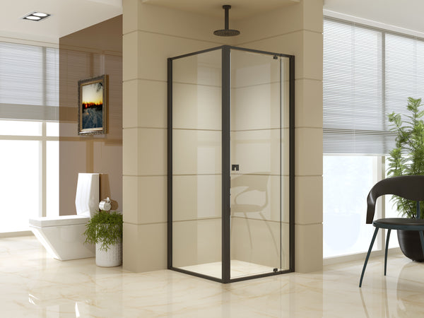 Semi Frameless Shower Screen (74~82)x 195cm & (77~80)x 195cm Side AS/NZS Glass
