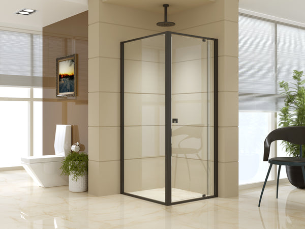 Semi Frameless Shower Screen (74~82)x 195cm & (89~92)x 195cm Side AS/NZS Glass