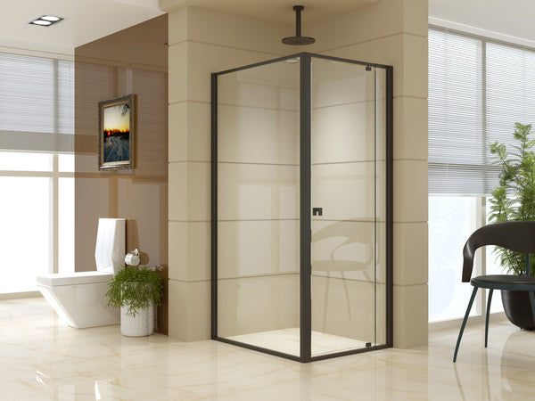 Semi Frameless Shower Screen (74~82)x 195cm & (98~101)x 195cm Side AS/NZS Glass