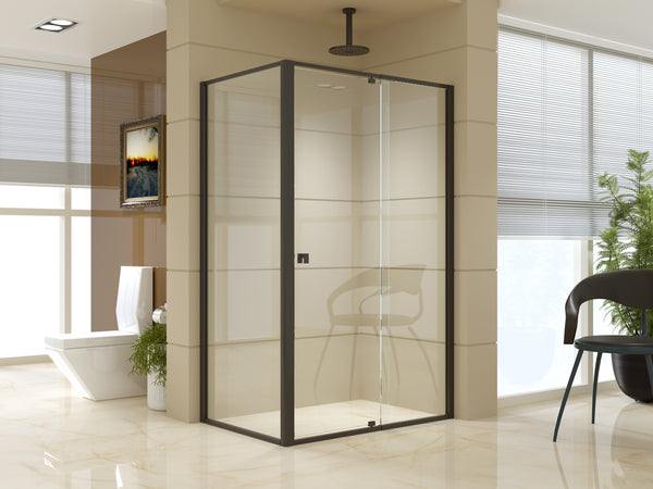 Semi Frameless Shower Screen (114~122)x 195cm & (77~80)x 195cm Side AS/NZS Glass