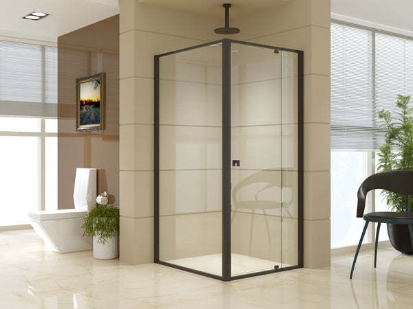 Semi Frameless Shower Screen (82~90)x 195cm & (98~101)x 195cm Side AS/NZS Glass