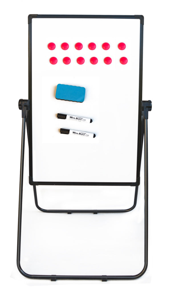 60 x 90cm Magnetic Whiteboard Writing Dry Erase w/ Height Adjustable Easel Stand