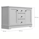 Margaux White Coastal Style Sideboard Buffet Unit